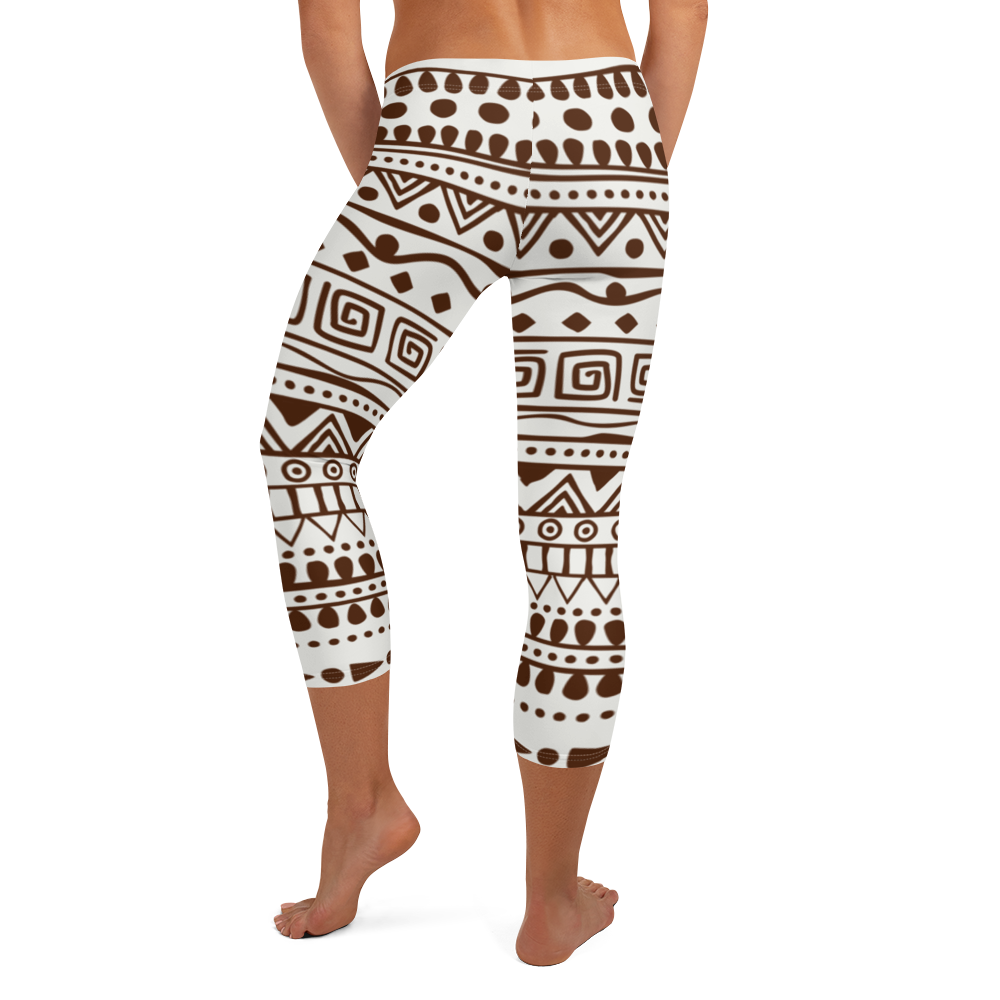 Brown Print Wars Capri Leggings