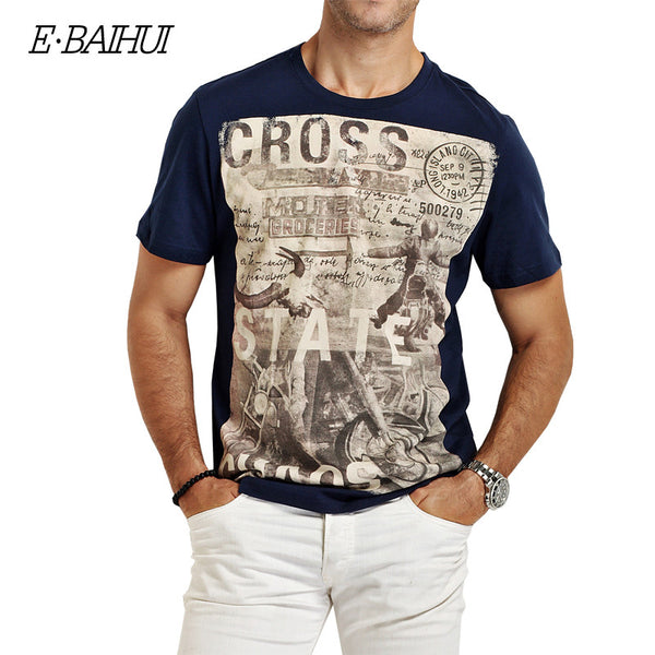 E-BAIHUI brand Summer style Men Cotton Clothing T-shirtS casua