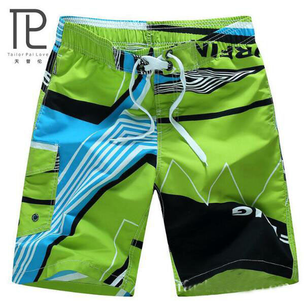 HOT Quick Dry Men Shorts Brand Summer Casual Clothing Geometric Shorts Men's Sea Board Beach Shorts
