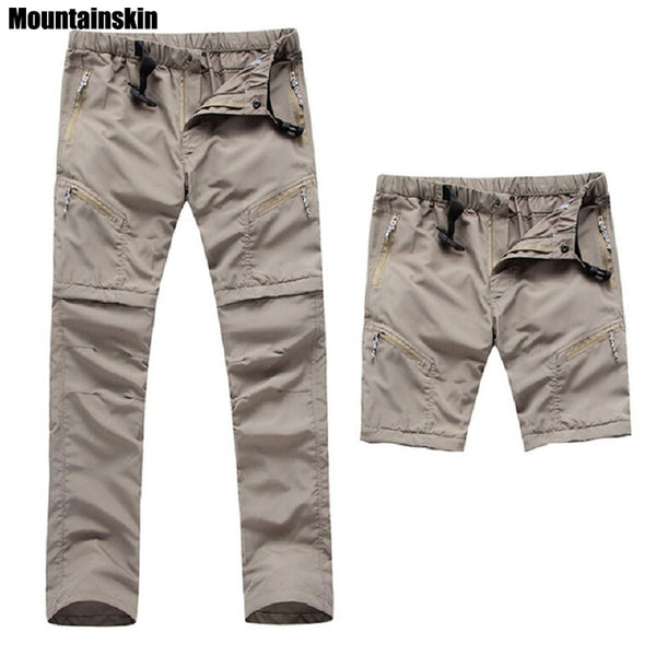 Men's Quick Dry Removable Hiking Pants Outdoor Sport Summer  Breathable Thousers Camping Trekking Fishing Shorts VA035