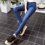 Basic Skinny Women Jeans Ankle Nine Pants Slim