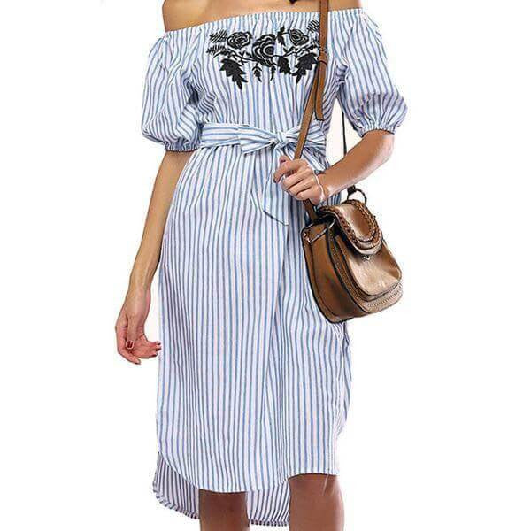 Off Shoulder Summer Women Dress