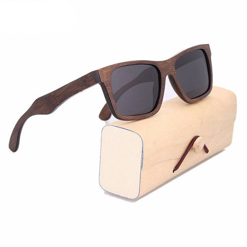 Glasses - Valiant I Men's Wood Frame UV400 Polarized Eye-Strain & Migraine Prevention Glasses