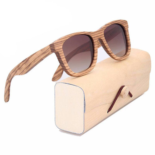 Glasses - Varadero I Bamboo Men's Wood Frame UV400 Polarized Eye Strain & Migraine Prevention Glasses