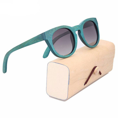 Glasses - Vicky I Bamboo Wood Frame UV400 Polarized Eye Strain & Migraine Prevention Glasses