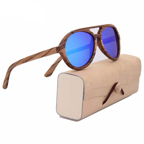 Glasses - Vindicator Series I Bamboo Men's Wood Frame UV400 Polarized Eye Strain & Migraine Prevention Glasses