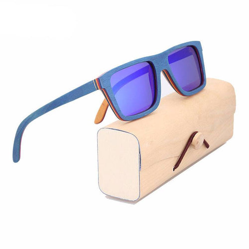 Glasses - Zap Fantastic Men's Wood Frame UV400 Polarized Eye Strain & Migraine Prevention Glasses