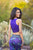 Yoganastix Purple Soul Ruched Crop Top