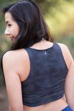Grey Sky Patterns - Yoga Crop Top