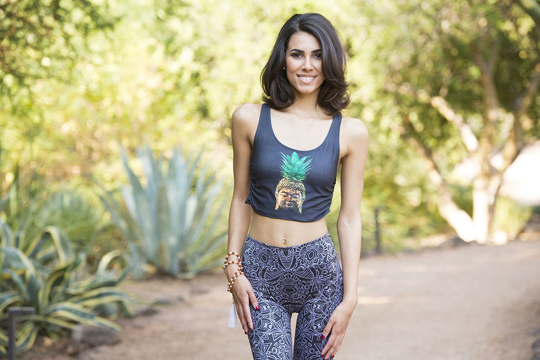 Pineapple Buddha Baby - Yoga Crop Top