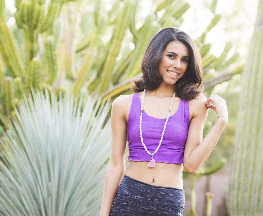 Be the Light in Purple - Yoga Crop Top