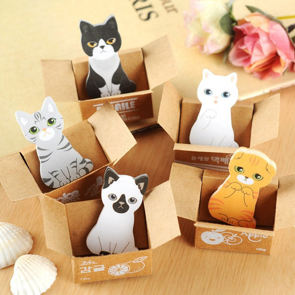 Kitties Love Boxes Sticky Notes - CuteFTW