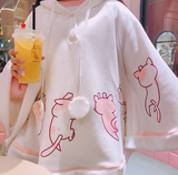 Kawaii Cat Hoodie with Ears and Tail - CuteFTW