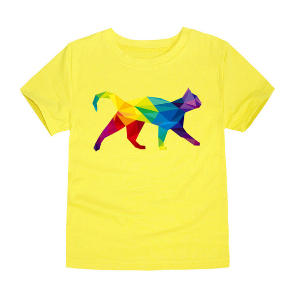 Vibrant Cat Energy Kids T Shirt - CuteFTW