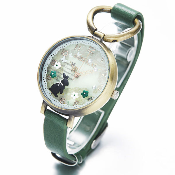 Bunny and Blossoms Quartz Wristwatch - CuteFTW