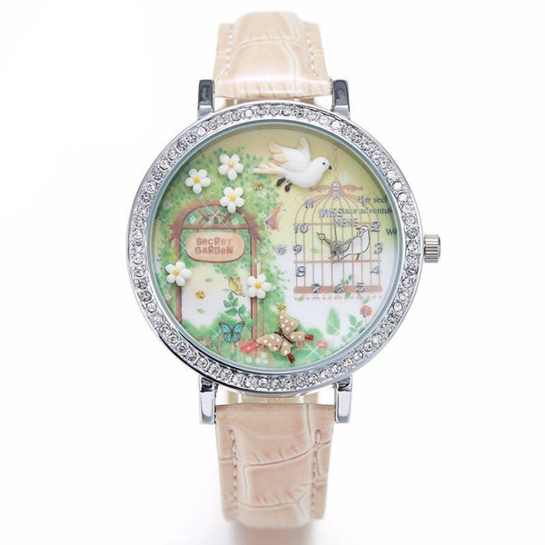 Miss Keke Rhinestone Quartz Wristwatch - CuteFTW