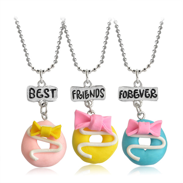 Best Friends Forever Donut Pendants - CuteFTW