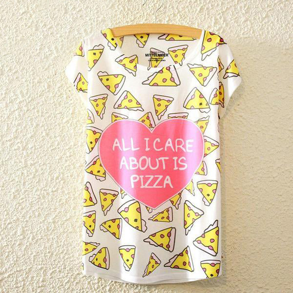 All I Care About Is Pizza T Shirt - CuteFTW
