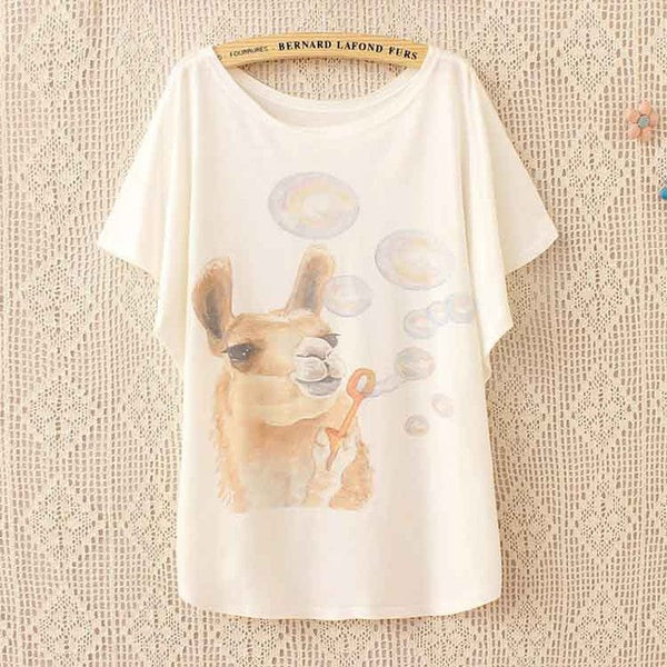 Llama Blowing Bubbles T Shirt - CuteFTW