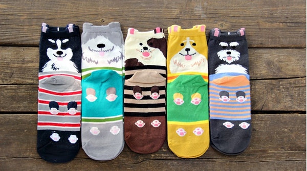 Cute Dogs Socks - Single Pair - CuteFTW