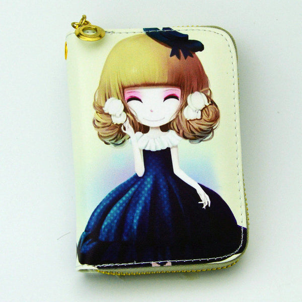 Sweetest Smile Leather Zipper Wallet - CuteFTW