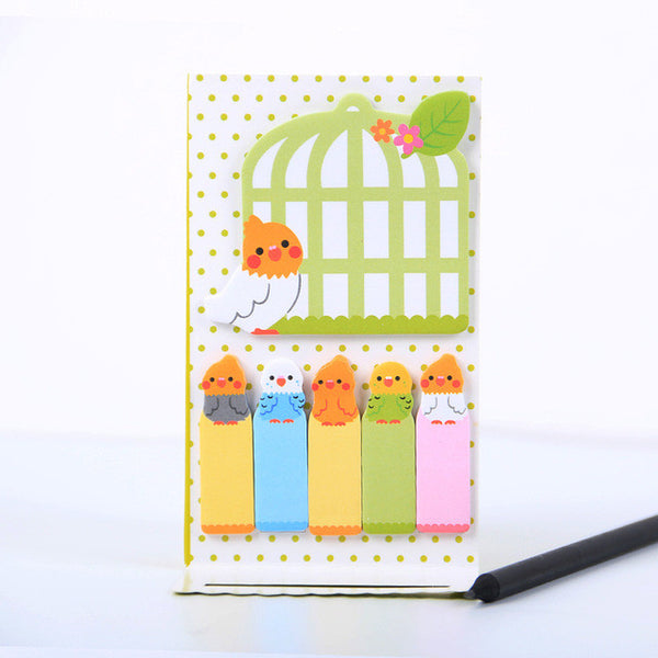 Cute Animals Sticker Post Its (2 Sticker Pads) - CuteFTW