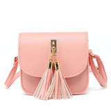Sweetsong Leather Chain Tassel Handbag - CuteFTW