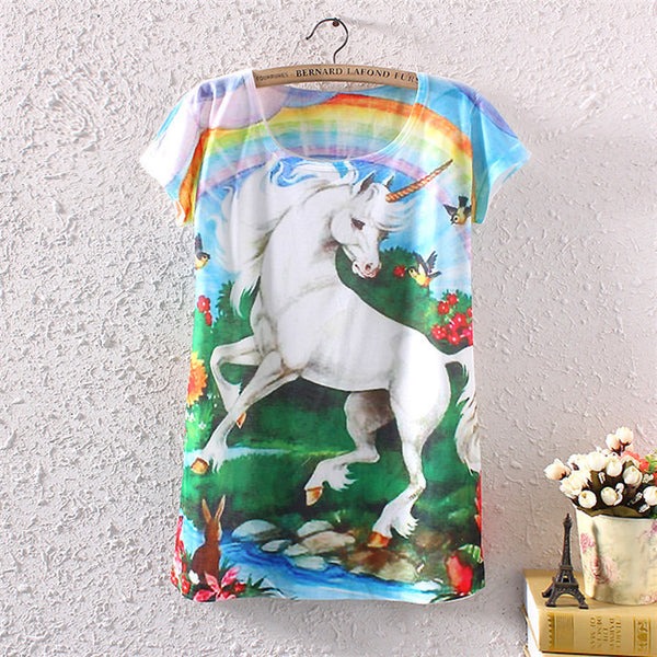 Unicorn in The Woods T Shirt - CuteFTW