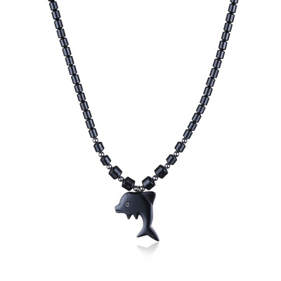 Dolphin Rhinestone Zinc Alloy Necklace - CuteFTW