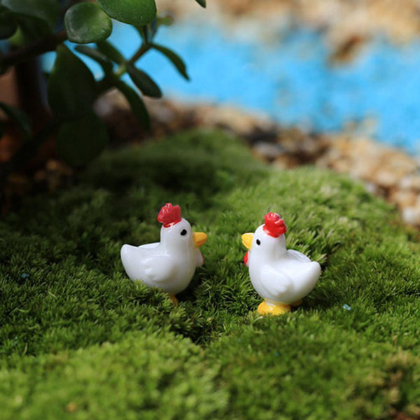 Two Little Chicken Figures - CuteFTW