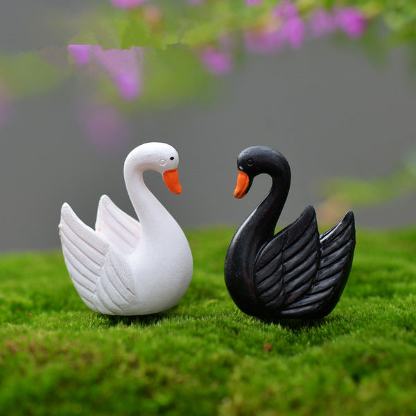 10 Piece Set of Swan Figures - CuteFTW