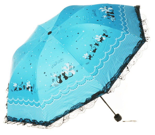 Love and Letters Windproof Sun and Rain Umbrella - CuteFTW