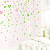 Floral Butterflies Wall Stickers Set - CuteFTW