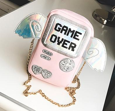 Game Over Shoulder Bag with Lv. 99 Chain - CuteFTW