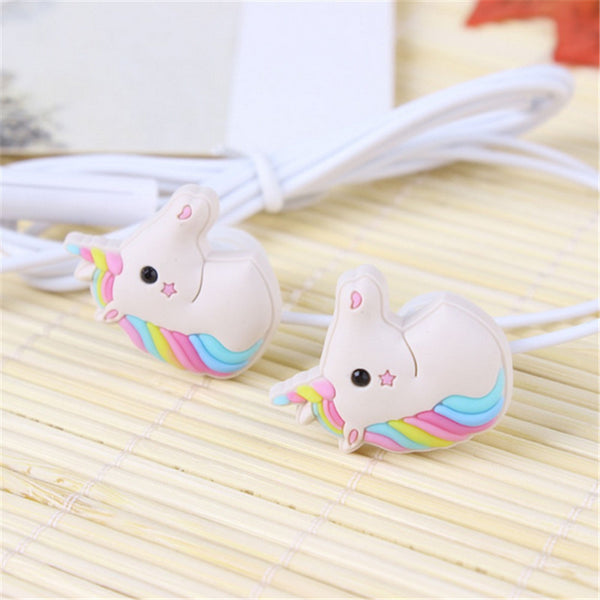 Rainbow Unicorn Earphones With Mic Mini - CuteFTW