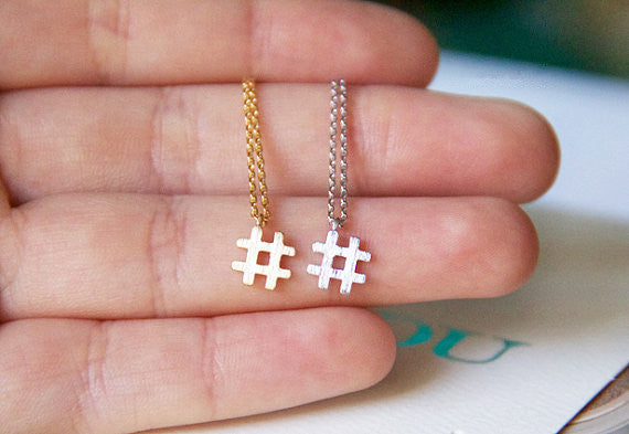 Hashtag Twitter Necklace