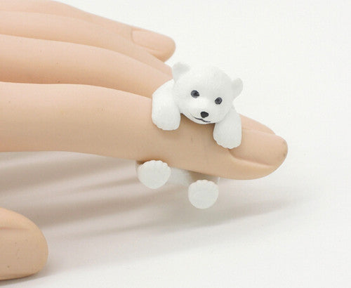 Cute Mini Resin Polar Bear Ring - CuteFTW