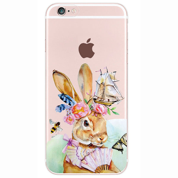 Illustrated Transparent Silicone Phone Case (Iphone and Galaxy) - CuteFTW