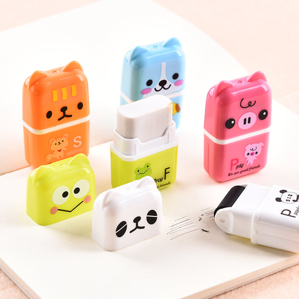 Cute Animal Eraser Rollers (10 Pieces) - CuteFTW