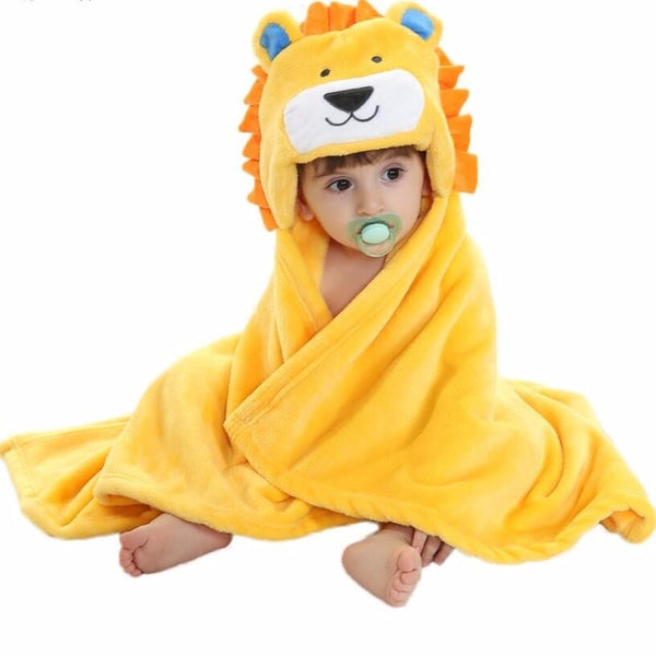 Cute Lion Hooded Cotton Blanket - CuteFTW