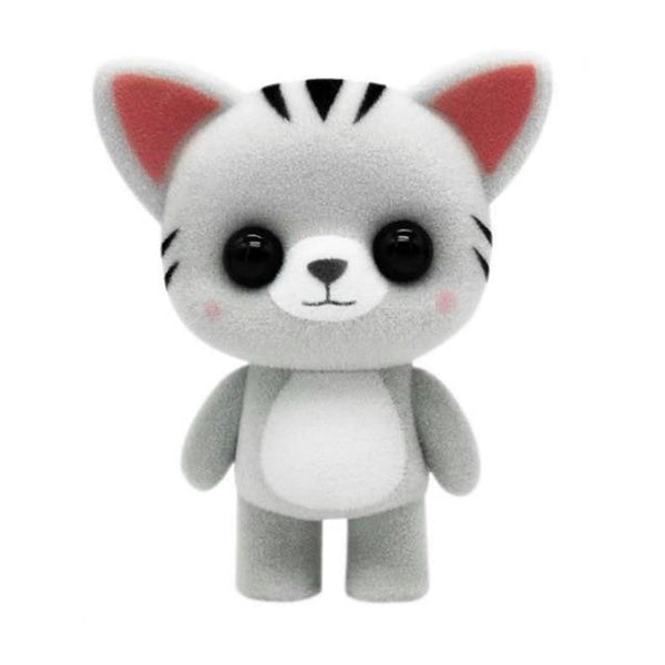 Cute Mini Plush Gray Stripe Cat - CuteFTW