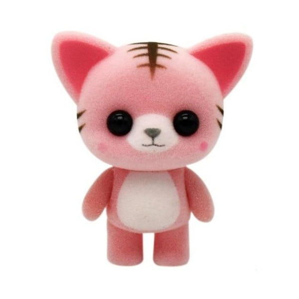 Cute Mini Plush Pink Stripe Cat - CuteFTW