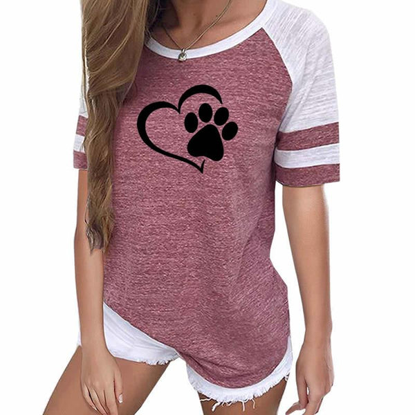 Cute Paw Print T Shirt - CuteFTW