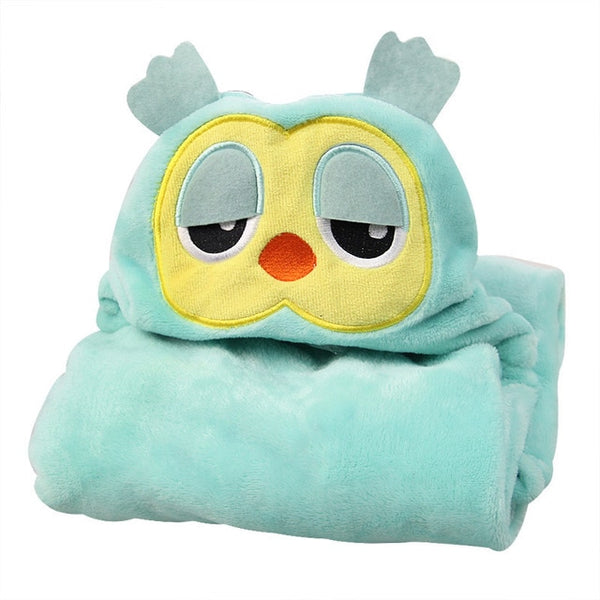 Cute Sleepy Owl Hooded Cotton Blanket - CuteFTW