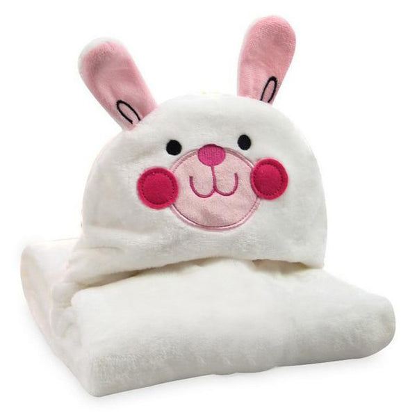 Cute Rabbit Hooded Cotton Blanket - CuteFTW
