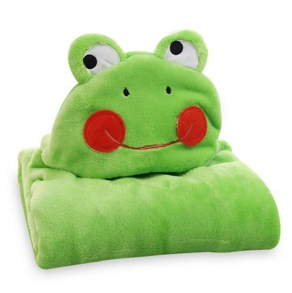 Cute Froggie Hooded Cotton Blanket - CuteFTW