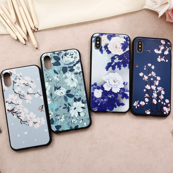 Season's Flowers Matte iPhone Soft Silicone Case