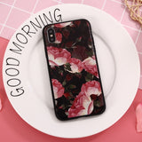 Season's Flowers Matte Soft Silicone iPhone Case - CuteFTW