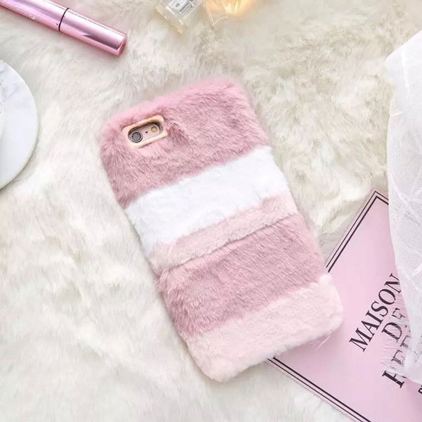 Cute Faux Fur Plush iPhone Case - CuteFTW
