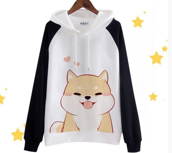 Kawaii Happy Dog Hoodie - CuteFTW
